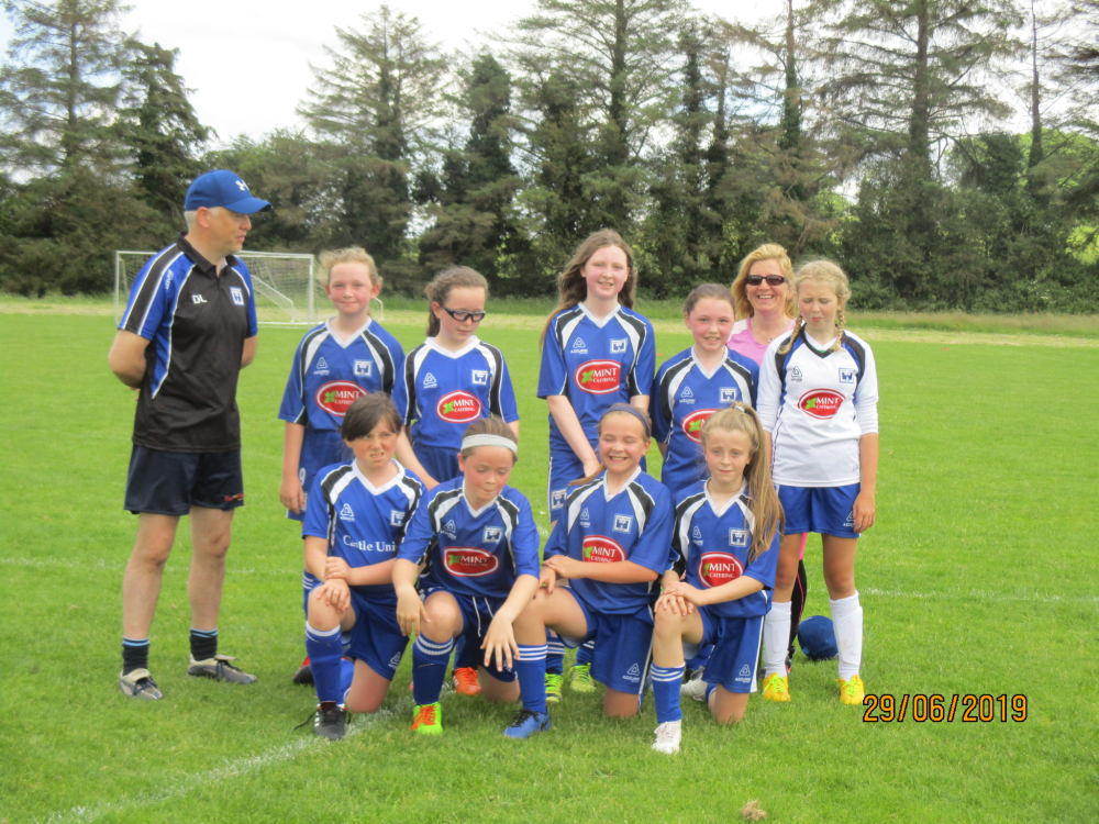 Castle United U12 girls who beat Parkville FC in Martinstown today.